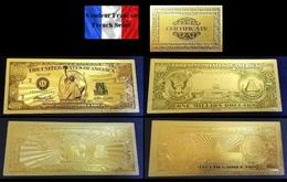 2 Billets Plaqués OR  + Certificat ! ( GOLD Plated Banknotes ) - 1 000 000 Dollars !!! One Million Dollars USD - Etats-Unis