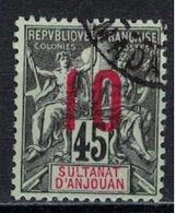ANJOUAN         N°  YVERT     27     ( 2 )      OBLITERE       ( O   1/40 ) - Anjouan (1892-1912)