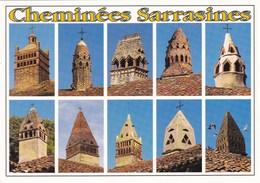 Cheminées Sarrasines En Bresse - Vues Diverses - Habitat Traditionnel - Ferme Bressane - France