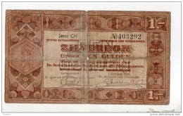 PAYS-BAS . 1 ZILVERBON . 1 OCTOBER 1938 . SERIE CH N° 403292 - Réf. N°10817 - - [2] 1815-… : Regno Dei Paesi Bassi