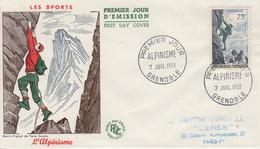Enveloppe  FDC  1er  Jour   FRANCE   ALPINISME    GRENOBLE    1956 - FDC