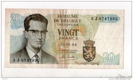 BELGIQUE . ROYAUME DE BELGIQUE 20 VINGT FRANCS . 15/06/1964 - Réf. N°10811 - - [ 2] 1831-... : Belgian Kingdom