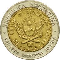 Monnaie, Argentine, Peso, 1995, TTB, Bi-Metallic, KM:112.2 - Argentina