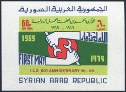 Syria C436,MNH.Michel 1067 Bl.56. ILO,50th Ann.1969. - ILO