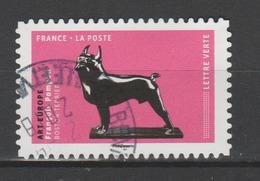 """FRANCE / 2018 / Y&T N° AA 1518 : """"Les Chiens Dans L'art"""" (Art Europe - Boston-Terrier) - Oblitération De 2018. SUPERBE ! - France"""