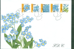 FINLANDE FLEURS N°1565 / 1574 Myosotis Et Muguet Sur 2 Fdc De 2002 TB. - Végétaux