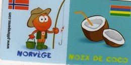Magnets Magnet Leclerc Reperes Norvege Noix De Coco - Tourism