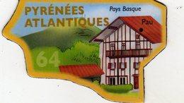 Magnets Magnet Le Gaulois Departement France 64 Pyrenees Atlantiques - Tourism