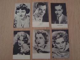 LOT DE 6 CARTES ARTISTES - Entertainers