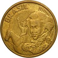 Monnaie, Brésil, 10 Centavos, 2005, TTB, Bronze Plated Steel, KM:649.2 - Brasil