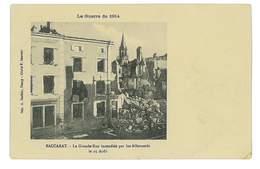 CPA 54 BACCARAT LA GRANDE RUE INCENDIEE - Baccarat