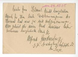 ALFRED GERSTENBERG (1893 - 1959) WW1 WW2 GENERAL ET AVIATEUR AVIATION AUTOGRAPHE AUTOGRAPH 1955 JASTA 11 /FREE SHIP. R - Autographs