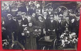 75 - PARIS 1 Er Carte Photo - HALLES DE PARIS - Marché Aux Fleurs - Carriole - France