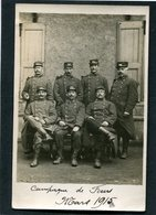 Carte Photo - Militaires Du 102è - Campagne De Feurs, Mars 1915 - Guerre 1914-18