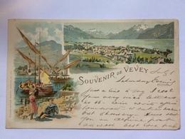 SWITZERLAND - Vevey - Souvenir Of Vevey 1899 - Sent To England - Vevey Postmarks - VD Vaud