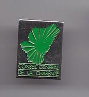 Pin's Conseil Général De La Charente Dpt 16 Réf 2436 - Villes