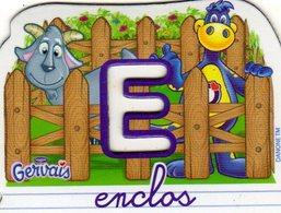 Magnets Magnet Alphabet Gervais Enclos E - Lettres & Chiffres