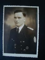 Altes Original-Foto-Karte 2. WK., Portait Marinesoldat Mit Orden, Narvikschild, Schnellbootabzeichen, DRL !! - 1939-45