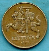 T10/  LITUANIE  50 Centu  1997 - Lituanie
