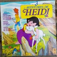 Rare Livre Disque 33 T 3 Aventures D'Heidi  Tf1 - Children