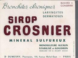 Paris Av Michel-Bizot : Buvard SIROP CROSNIER   (PPP14983) - Chemist's