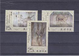 COREE DU NORD 1975 PEINTURES Yvert 1280-1282 NEUF** MNH - Corée Du Nord