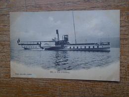 """Carte Assez Rare De 1902 , Lac D'annecy , """""""" Le Bateau Ville D'annecy """""""" - Annecy"""