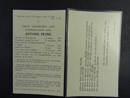 Zeer Eerwarden Heer Antoine Petre Oudenaarde 1901 ? 1969 (Gent, Aalst, Deurle) /1/ - Images Religieuses