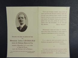 Jules Legrand épx Marie De Foy Bruxelles 1928 /3/ - Images Religieuses