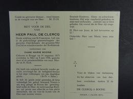 Paul De Clercq Vf Boone Brugge 1875 Mol 1956 /4/ - Images Religieuses
