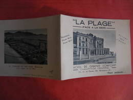 Carte Pub Hôtel - LA PLAGE HÔTEL GRAND CONFORT 595 Av. Du Prado - 2 Volets - Other