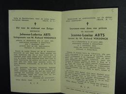 Jeanne -Louise Abts épse Verdonck Huldenberg 1892 Schaerbeek 1938 /5/ - Images Religieuses