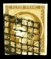 O N°1, 10c Bistre-jaune, Obl Lourde. TB  Qualité: O  Cote: 355 Euros - 1849-1850 Ceres