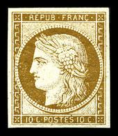 * N°1a, 10c Bistre-brun, Quasi **, Fraîcheur Postale. SUPERBE. R. (certificat)  Qualité: *  Cote: 3250 Euros - 1849-1850 Ceres