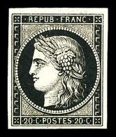 * N°3, 20c Noir Sur Jaune, Quasi **, TB (signé Calves/certificat)  Qualité: *  Cote: 600 Euros - 1849-1850 Ceres