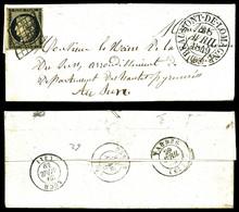 O N°3, 20c Noir Obl Grille + Càd T13 De Beaumont De Lomagne Les 28 Avril 1849. SUP (certificat)  Qualité: O - 1849-1850 Ceres