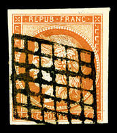 O N°5, 40c Orange Obl Grille, Belles Marges, TB (signé Calves/certificat)  Qualité: O  Cote: 500 Euros - 1849-1850 Ceres