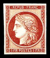 ** N°6f, 1f Carmin, Impression De 1862, Fraîcheur Postale. SUP (certificat)  Qualité: ** - 1849-1850 Ceres
