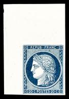 (*) N°8, Non émis, 20c Bleu Sur Jaunâtre, Coin De Feuille, MAGNIFIQUE (signé Margues/certificat)  Qualité: (*) - 1849-1850 Ceres