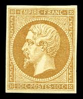 * N°13A, 10c Bistre Type I, Frais. TTB (signé Calves/certificat)  Qualité: *  Cote: 900 Euros - 1853-1860 Napoleon III