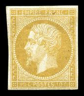 * N°13Aa, 10c Jaune Citron. TTB (certificat)  Qualité: *  Cote: 2750 Euros - 1853-1860 Napoleon III