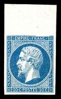 ** N°14A, 20c Bleu Bdf, Fraîcheur Postale. SUP (certificat)  Qualité: ** - 1853-1860 Napoleon III