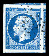 O N°14A, 20c Bleu Type I, Grandes Marges Avec 5 Voisins. SUP  Qualité: O - 1853-1860 Napoleon III