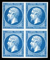 ** N°14B, 20c Type II, Bloc De Quatre, Fraîcheur Postale. SUP (signé Calves/certificat)  Qualité: ** - 1853-1860 Napoleon III