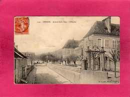 25 Doubs, Ornans, Avenue De La Gare, L'Hôpital, Animée, 1911, (Simon) - France