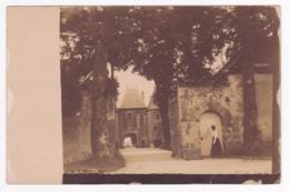 Carte Photo Extérieur - La Ferté Alais - Château De Bélesbat, Grille à L'arrière De La Cour Principale - Circulé 1911 - La Ferte Alais