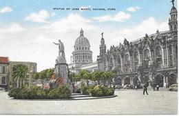 CUBA - HAVANA -  STATUE OF JOSE MARTI,- S950 - Postales