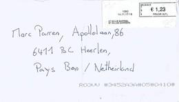 """Belgium Belgie 2017 St Gillis Barreel Meter Cognitive Solution """"Barcode Blaster"""" Label EMA Cover - 2000-..."""