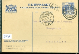 NEDERLANDS-INDIE * BRIEFKAART Gelopen In 1935 Van BANDUNG Naar SEMARANG  (11.403) - Indes Néerlandaises