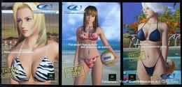 [LOT] Pin-up Dead Or Alive - Xtreme Beach Volley-ball  XBox Jeu Vidéo Plage Bikini - Pin-Ups